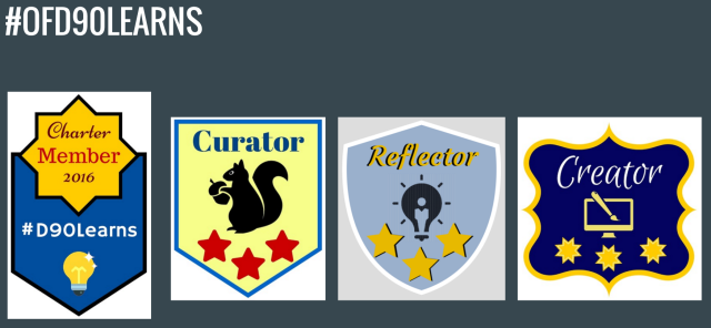 Four possible badges to earn